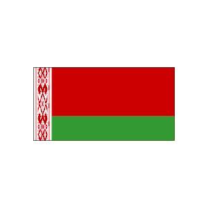 flaga bialorusi rozm 70 x 110 cm z tunelem na drzewiec - BIAŁORUŚ - skocznie narciarskie